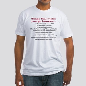 Hmmm Fitted T-Shirt