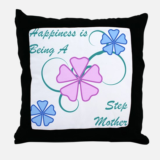 Happiness Stepmother Throw Pillow