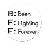 BFF Definition Round Car Magnet