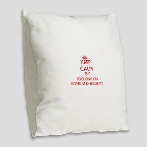 Keep Calm by focusing on Homel Burlap Throw Pillow