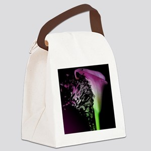 Exploding Lily Canvas Lunch Bag