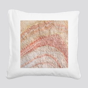 Painted Desert Rock Square Canvas Pillow