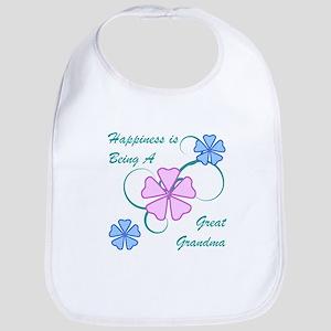 Happiness Great Grandma Bib