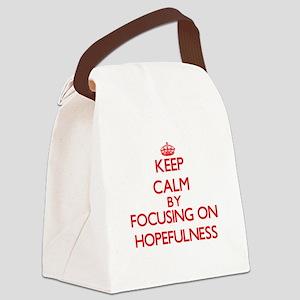 Keep Calm by focusing on Hopefuln Canvas Lunch Bag