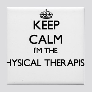 Keep calm I'm the Physical Therapist Tile Coaster
