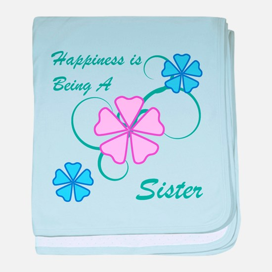 Happiness Sister baby blanket