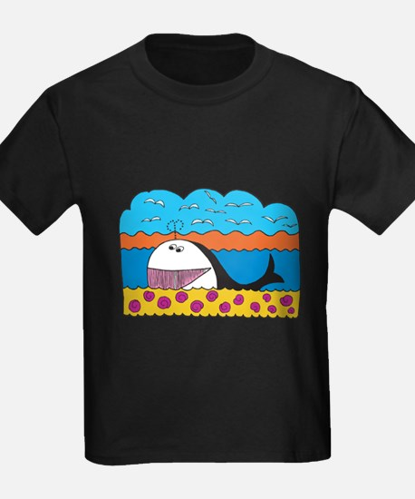 Colorful Happy Whale Cartoon T