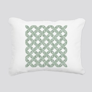 Quilted Diamond Leaf Sage Rectangular Canvas Pillo