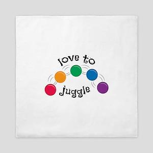Love To Juggle Queen Duvet