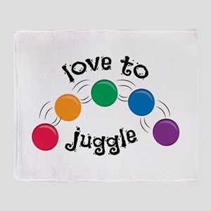 Love To Juggle Throw Blanket