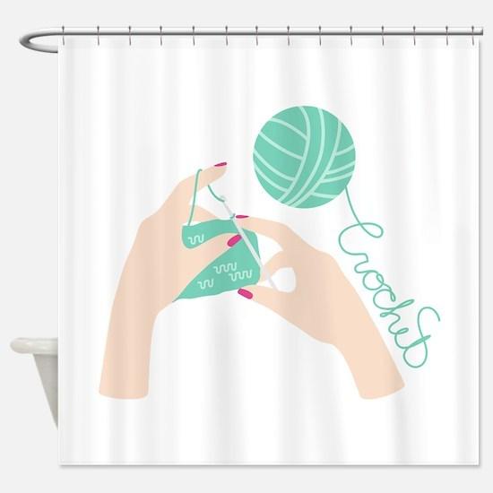 Crochet Shower Curtain