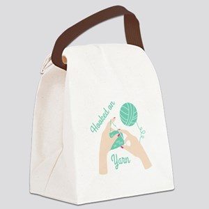 Hooked on Yarn Canvas Lunch Bag