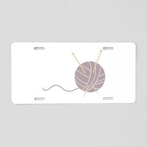 Knit Needles Ball Aluminum License Plate