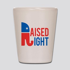 Raised Right Conservative Shot Glass