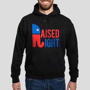 Raised Right Conservative Hoodie (dark)