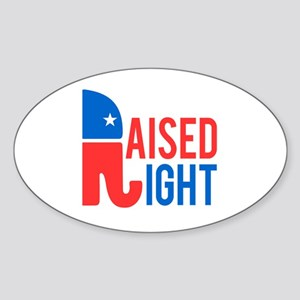 Raised Right Conservative Sticker