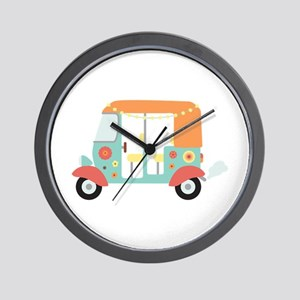 Indian Tuk-Tuk Wall Clock