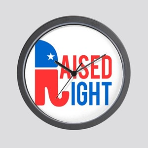 Raised Right Conservative Wall Clock