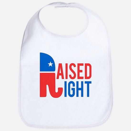 Raised Right Conservative Bib