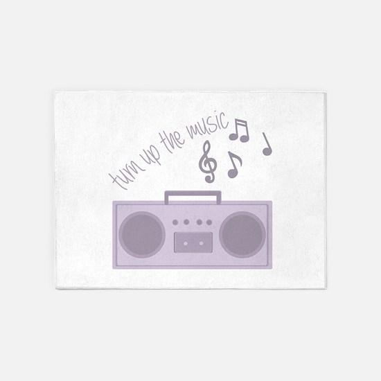 Turn Up Music 5'x7'Area Rug