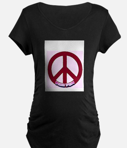 Pink Peace with Psalm 34:14 i T-Shirt