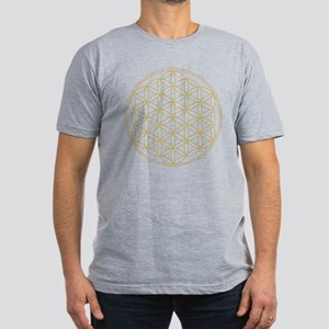 Flower of Life Gold Li Men's Fitted T-Shirt (dark)