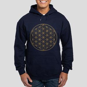 Flower of Life Gold Line Hoodie (dark)
