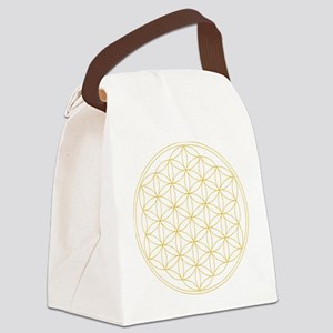 Flower of Life Gold Line Canvas Lunch Bag