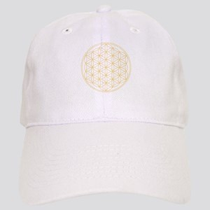 Flower of Life Gold Line Cap