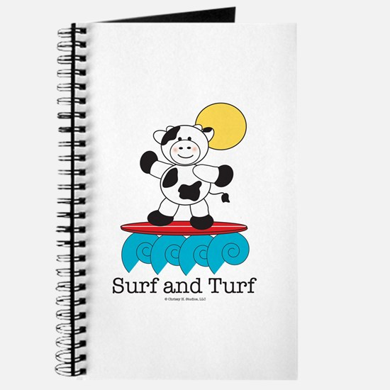Surfing Cow Surfboard Journal Notebook Sketchbook