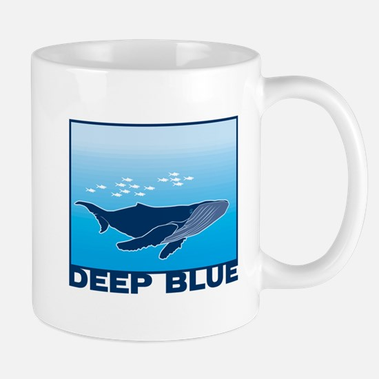 Deep Blue Sea Whale Design Mug