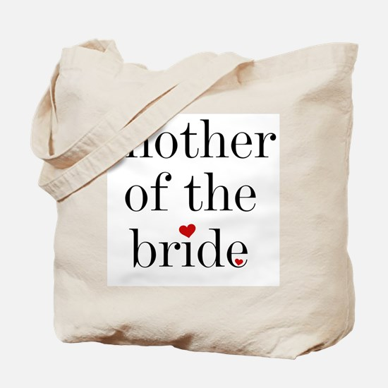 Black Text Mother Of The Bride Tote Bag