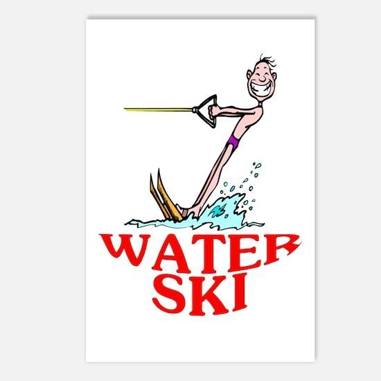 Let's Water Ski! Postcards (Package of 8)