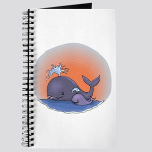 Cute Mommy and Baby Whale Journal