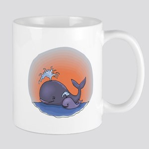 Cute Mommy and Baby Whale Mug