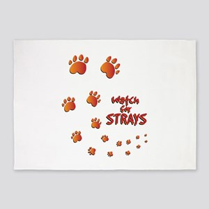 Watch For Strays 5'x7'Area Rug