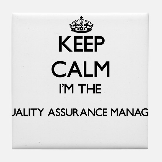 Keep calm I'm the Quality Assurance M Tile Coaster