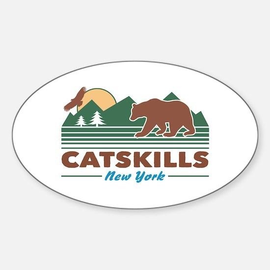 Catskills New York Sticker (Oval)