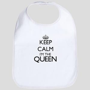 Keep calm I'm the Queen Bib