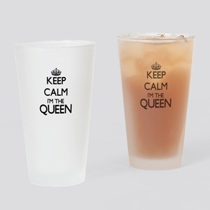 Keep calm I'm the Queen Drinking Glass