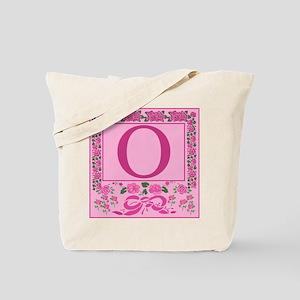 Letter O Pink Ribbons And Roses Monogram Tote Bag