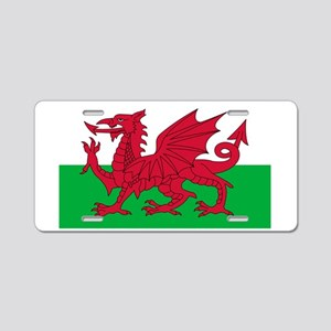wales-flag-4000w Aluminum License Plate