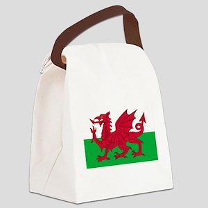 wales-flag-4000w Canvas Lunch Bag