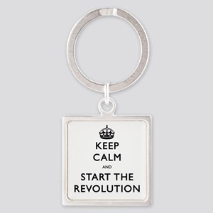 Keep Calm And Start The Revolution Keychains