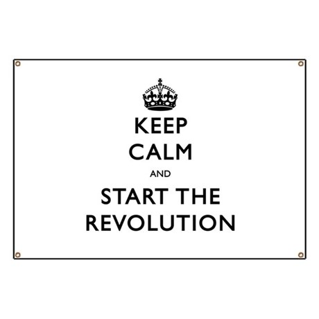 Keep Calm And Start The Revolution Banner by covartdesigns