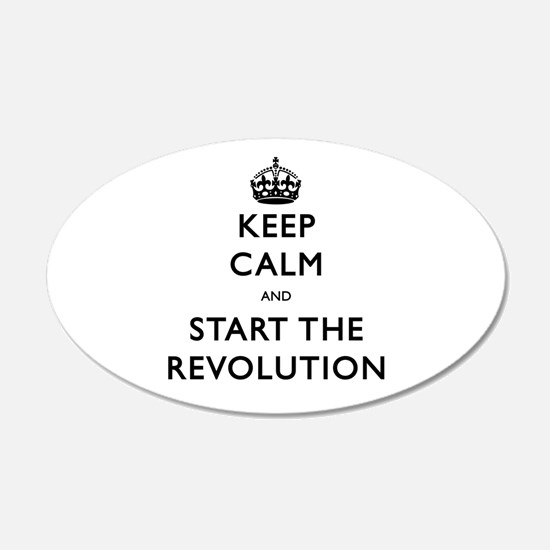 Keep Calm And Start The Revolution Wall Decal