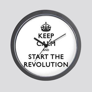 Keep Calm And Start The Revolution Wall Clock