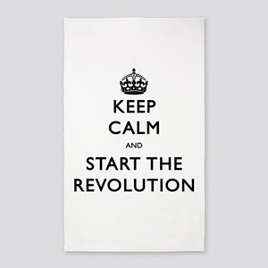Keep Calm And Start The Revolution 3'x5' Area Rug