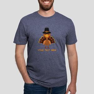 Thanksgiving Turkey Persona Mens Tri-blend T-Shirt