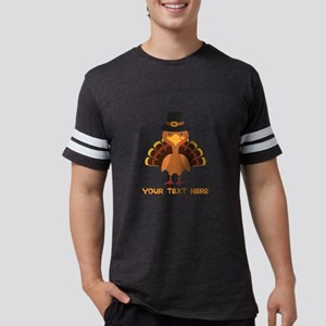 Thanksgiving Turkey Personaliz Mens Football Shirt